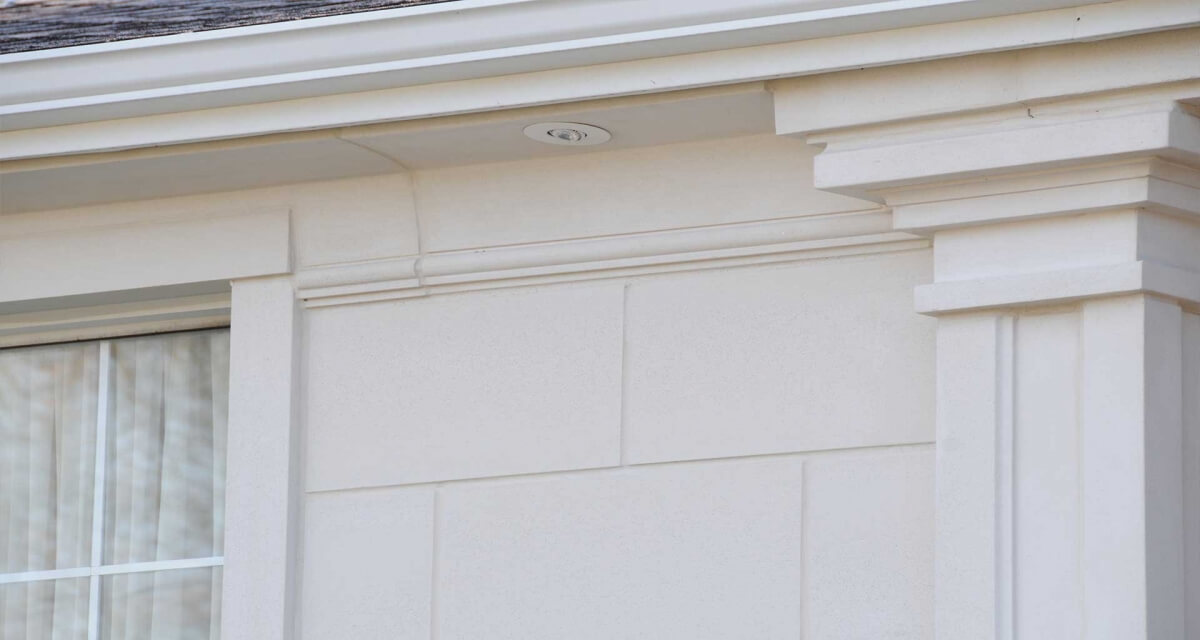 Exterior trimwork - limestone moulding