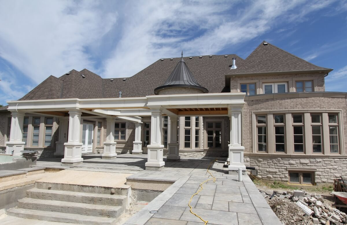 Stone Moulding and Columns - Indiana limestone look
