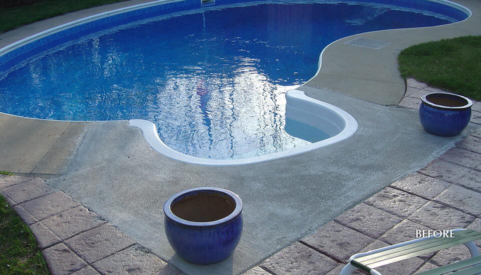 Swimming Pool Restorations : Swimming pool deck repair and restoration building