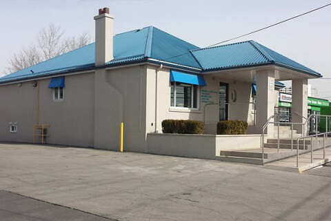 Mississauga Animal Hospital Exterior Stucco Project, Dundas Street Eeast, Mississauga