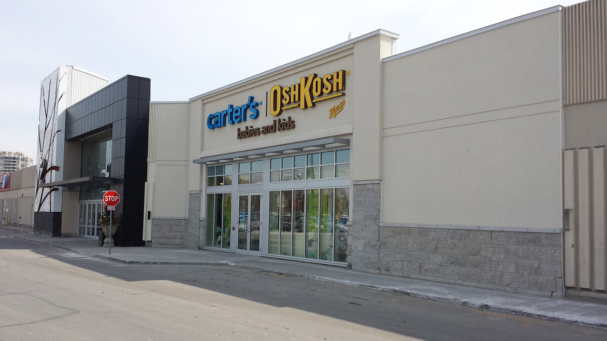 Commercial Stucco Shopping Mall Design and Installation - Pickering