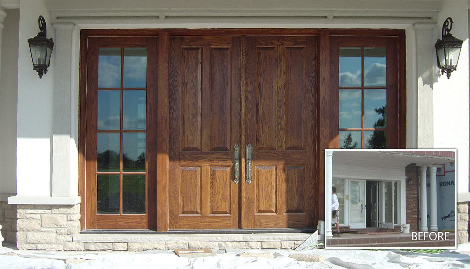 Front Entrance Door - Stone and Stucco Design Idea