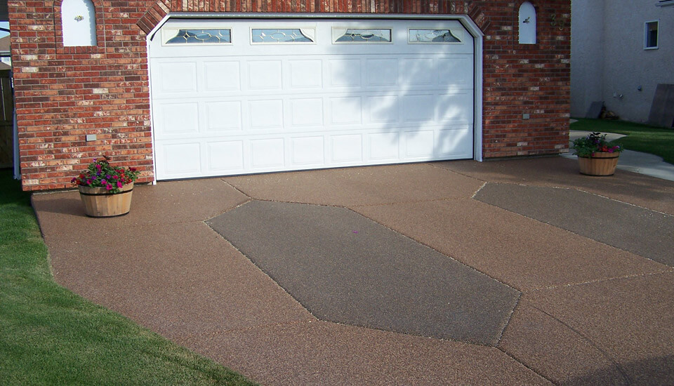 Garage Driveway with Sierra Stone - Natural Stone look at cost