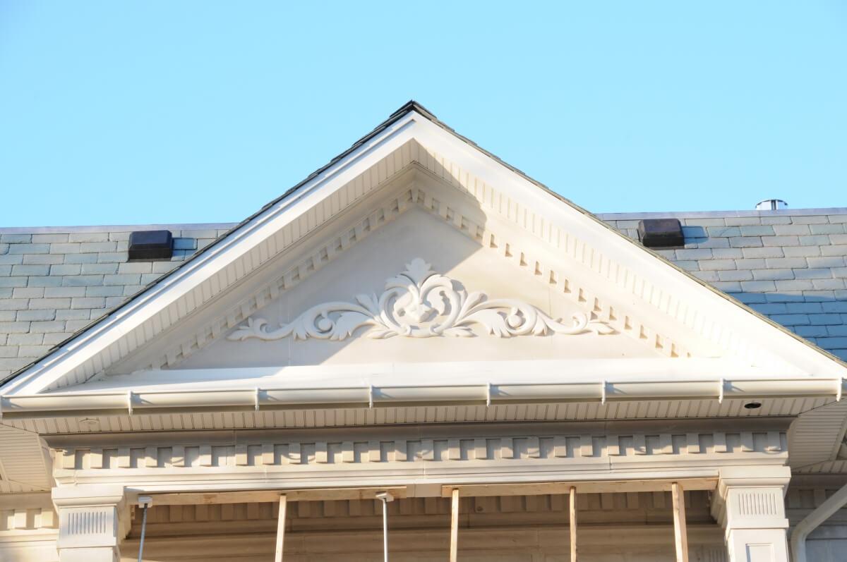 elegant exterior lightweight roof accent