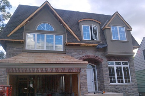 Full house stone and stucco installation – Cooksville, Mississauga