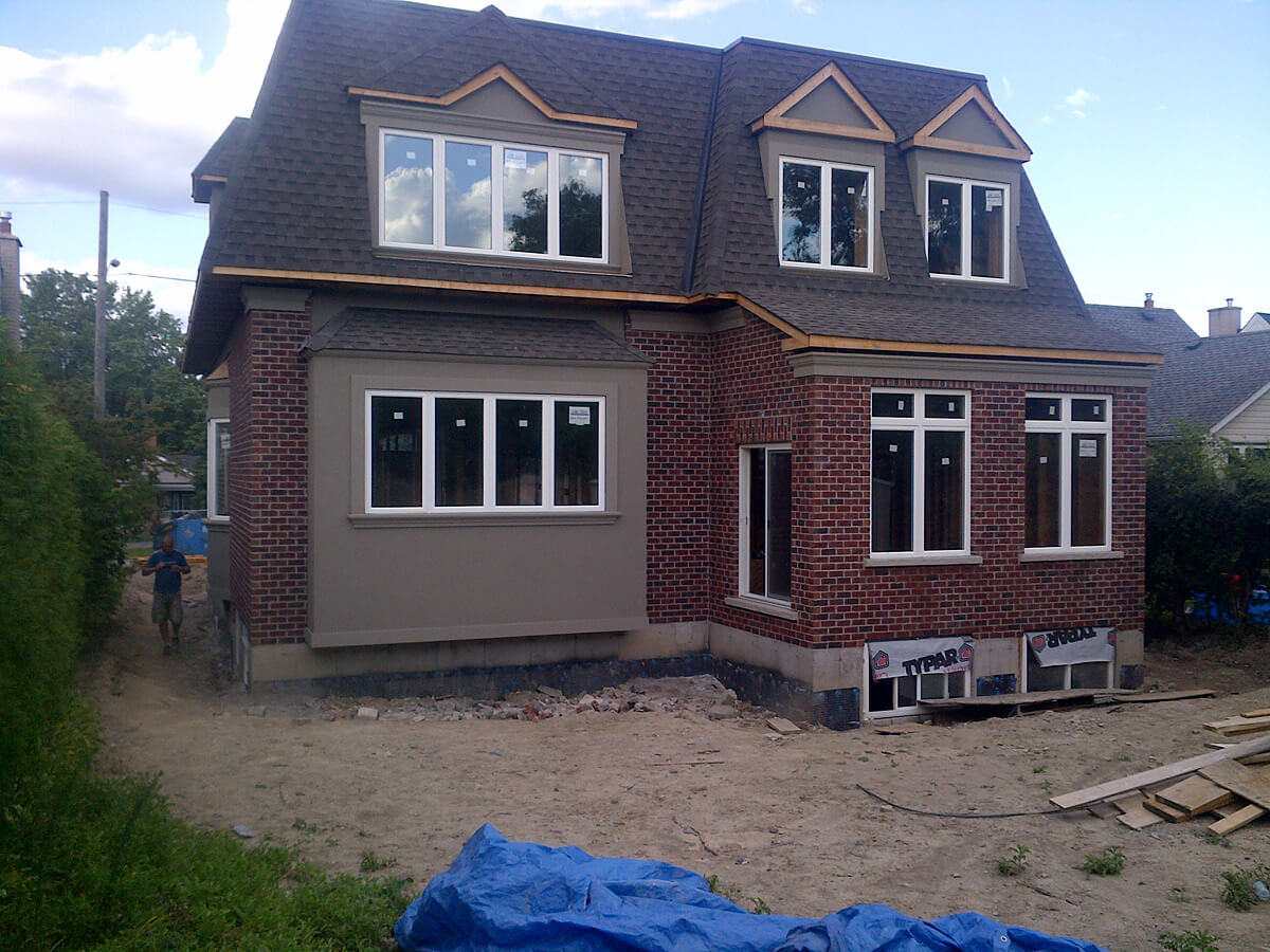 Full House Stone And Stucco Installation Cooksville Mississauga Building