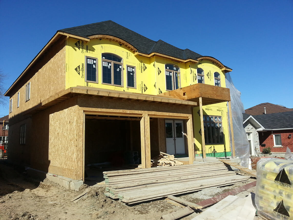 New house stone veneere and stucco confederation pkwy Stucco modular homes