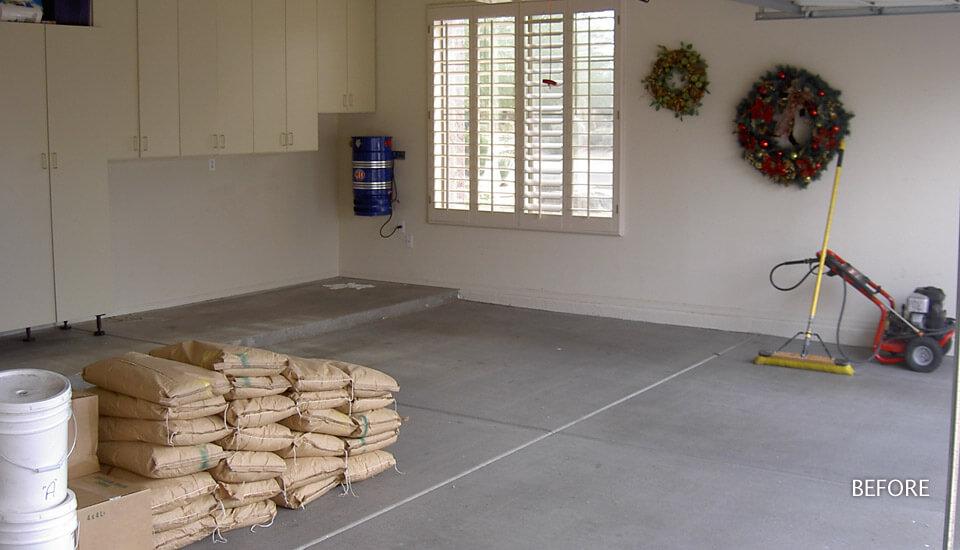 Garage Floor Preperation for Sierra Stone