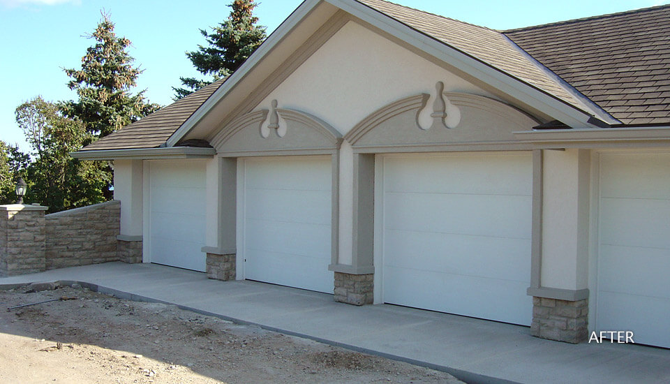 House garage stucco contractor building blocks for Stucco garage