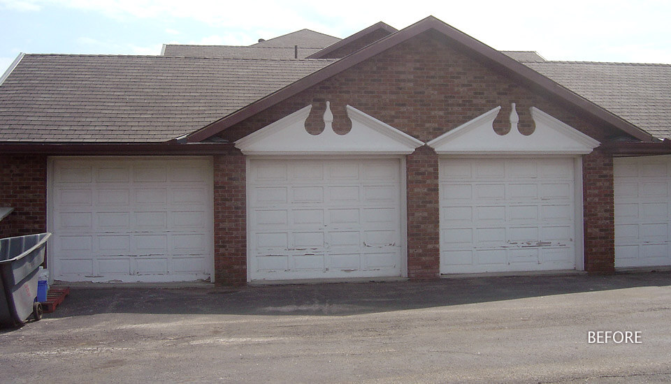Garage before Stone and Stucco Application