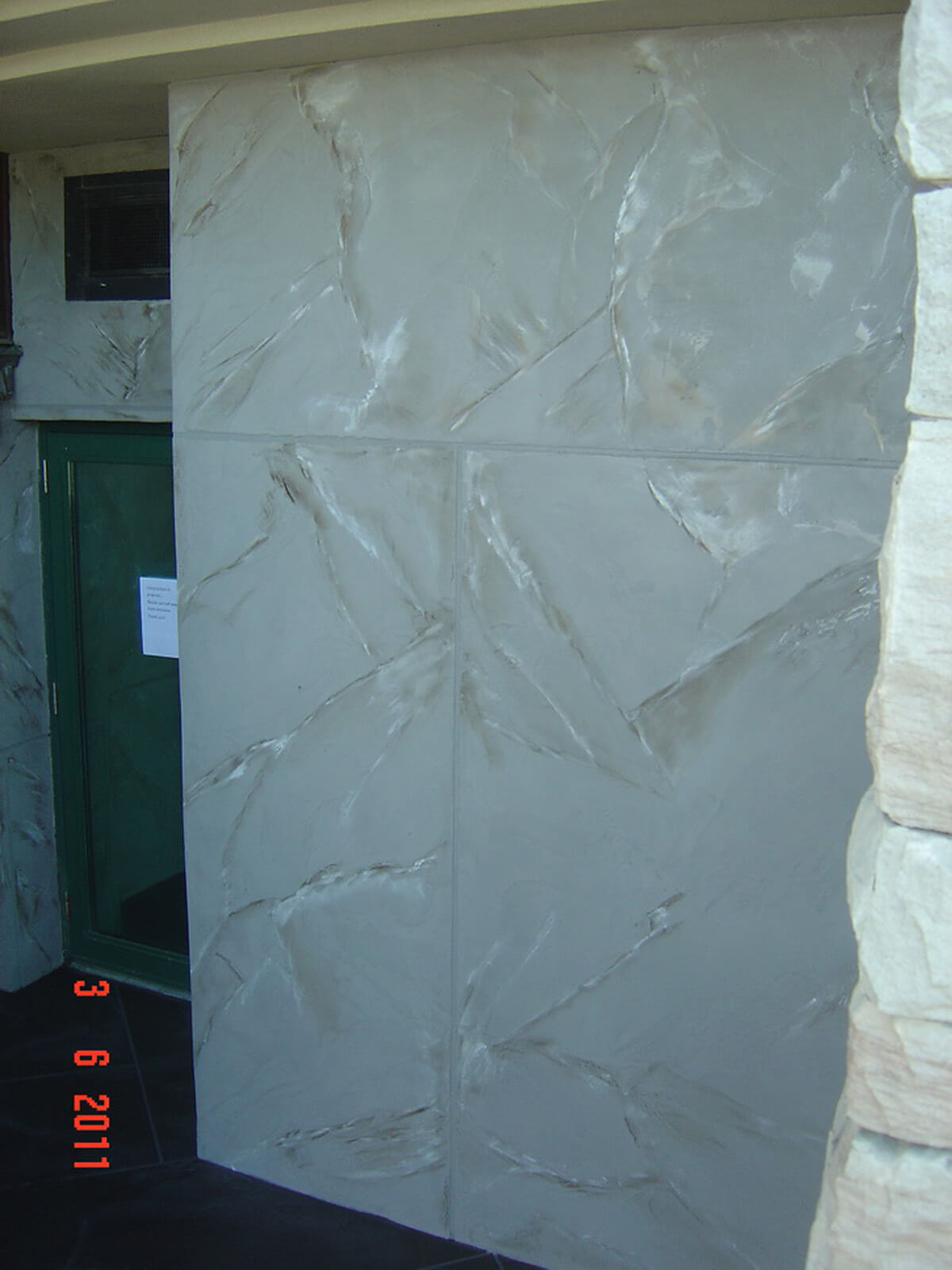 Exterior Commercial Stucco Finish - Decorative Wall Design