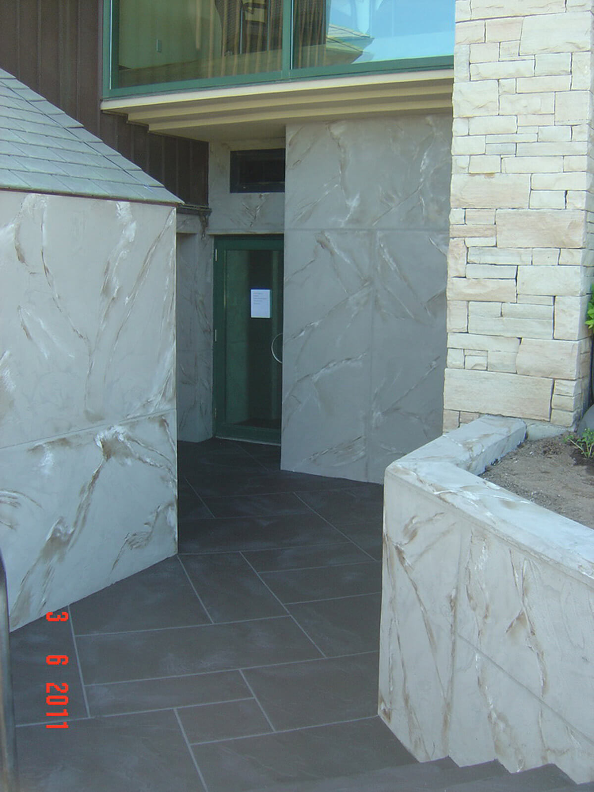 Exterior Commercial Stucco Finish - Front Entrance