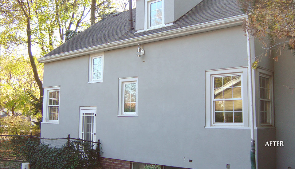 After Stucco Siding