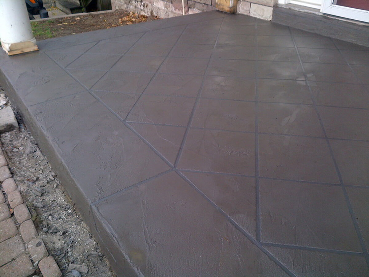Exterior Concrete Repair and Resurface - Jewel Stone