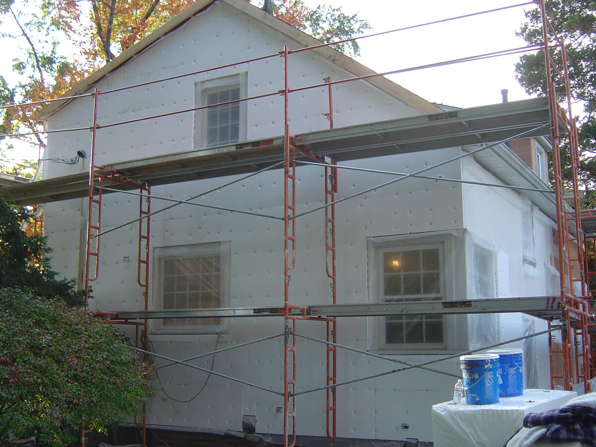 Stucco Repair and Restoration - Insulation installation