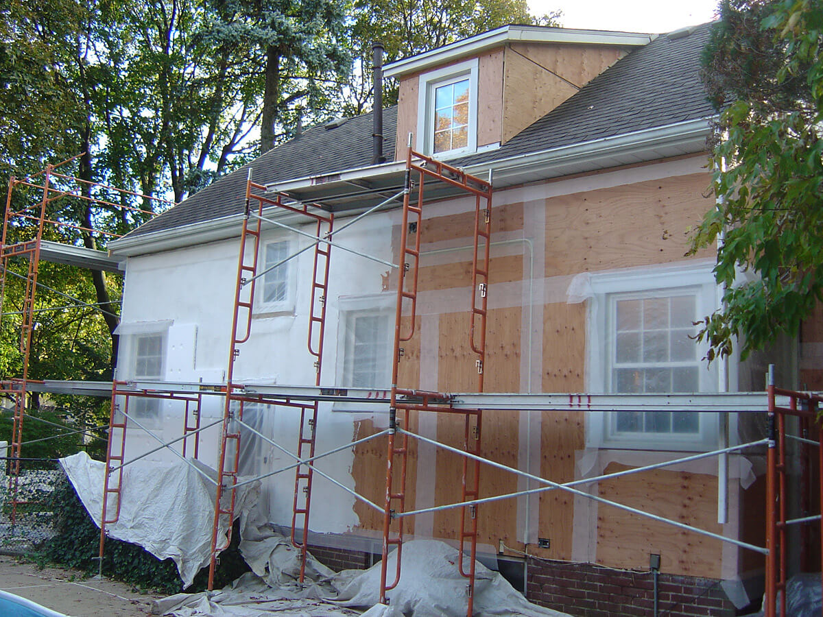 Stucco Repair and Restoration - Before Stucco Application