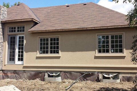 Maple Ave, Georgetown – Exterior Stone and Stucco