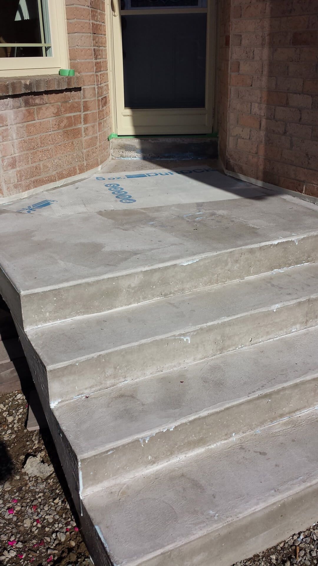 Front Porch and Steps Designs - Repair Broken Concrete Step