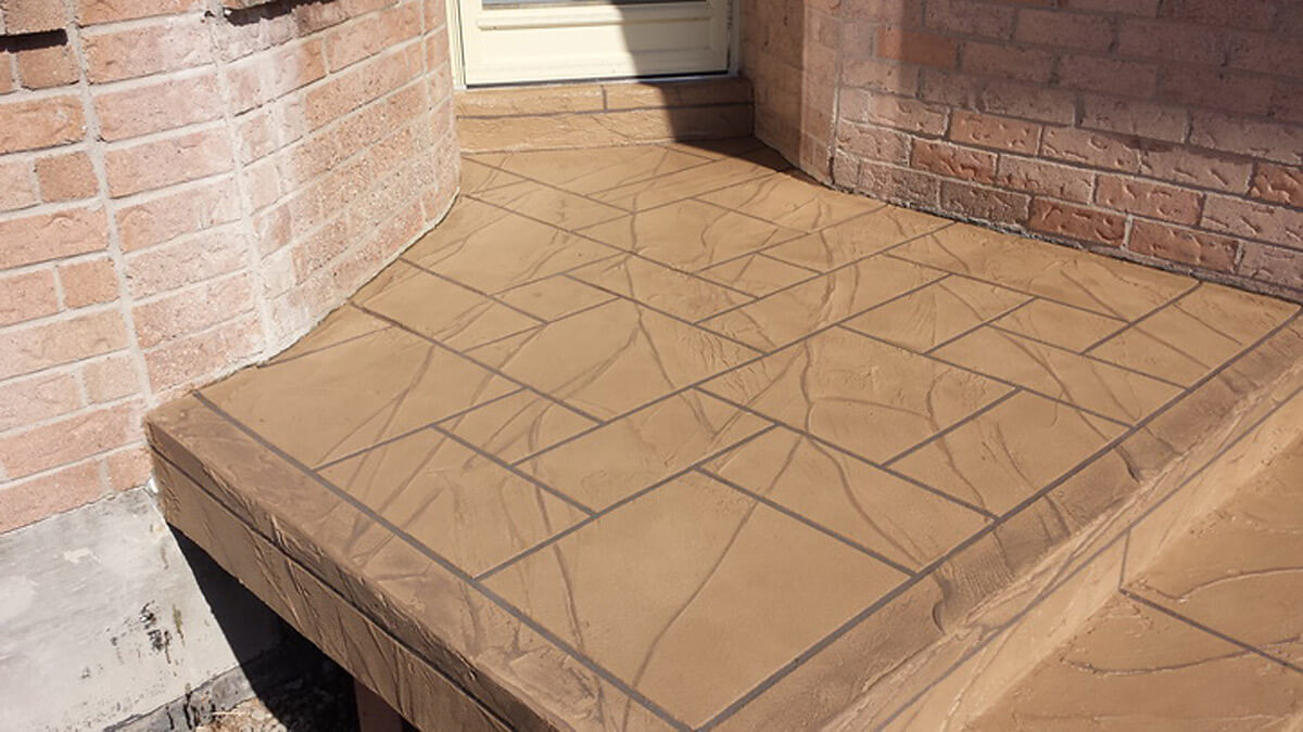 Concrete Overlays - Resurfacing with New Color - Jewel Stone