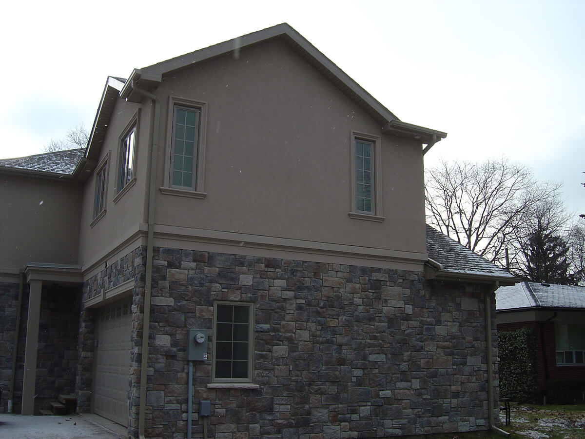 Home Exterior Insulation Stucco And Stone Building