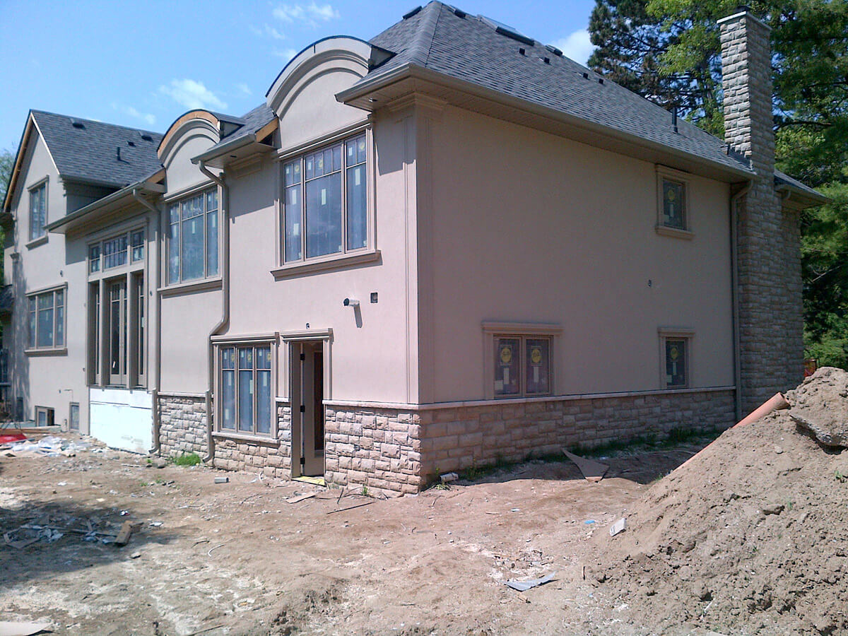 Exterior house stone and stucco ideas building blocks for Stucco facade