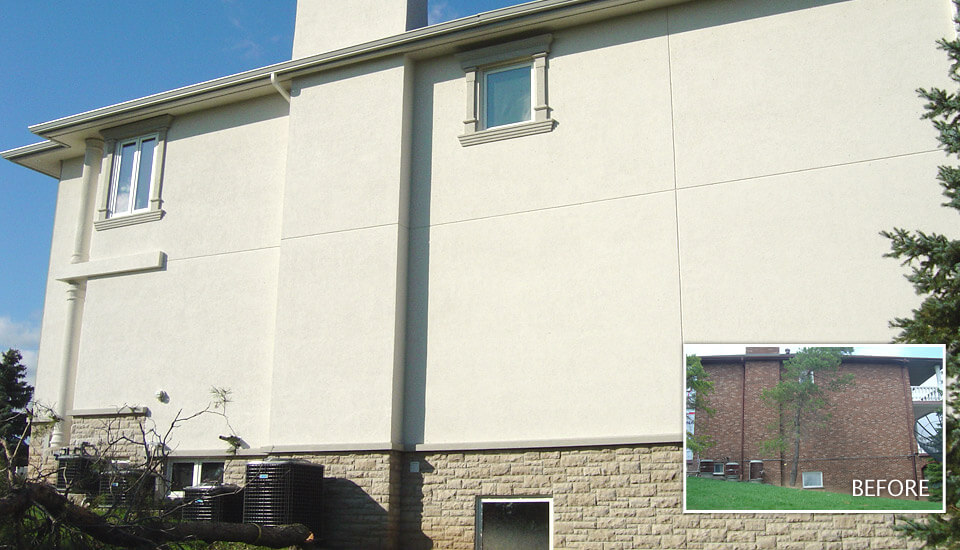 Before-After - Stucco Design