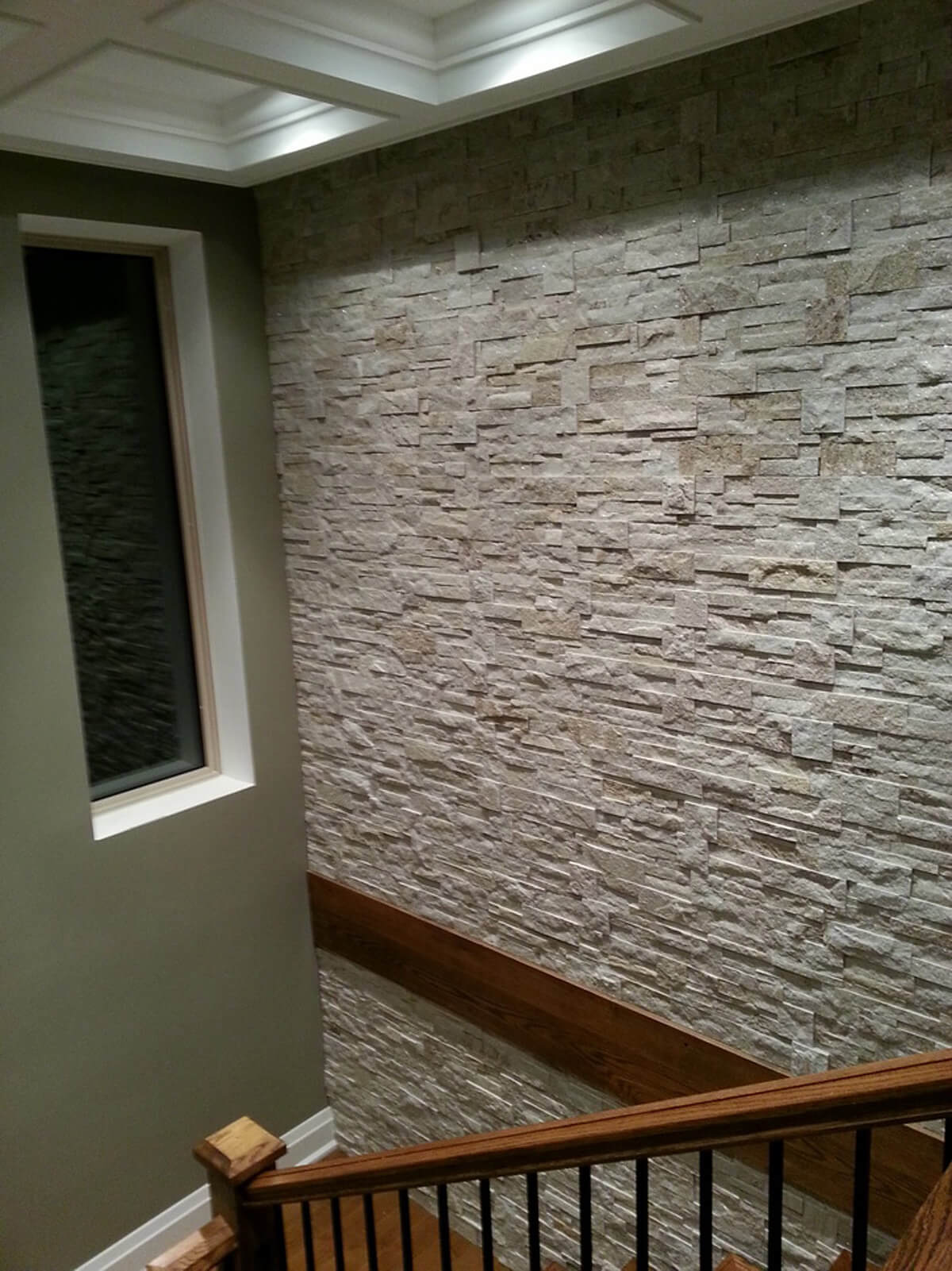 Indoor Staircase Natural Stone Wall