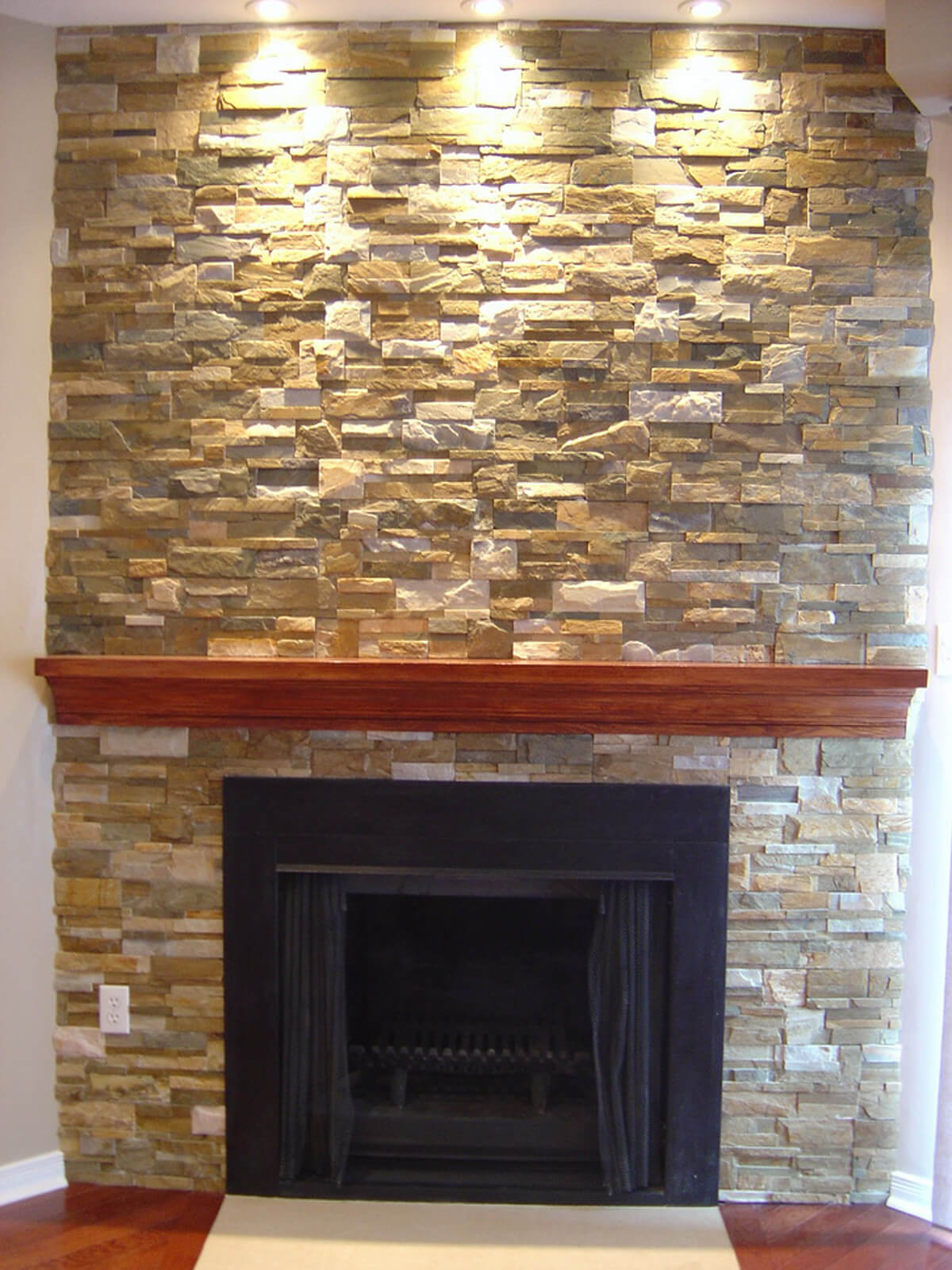 ... Interior Stone Veneer Fireplace ...