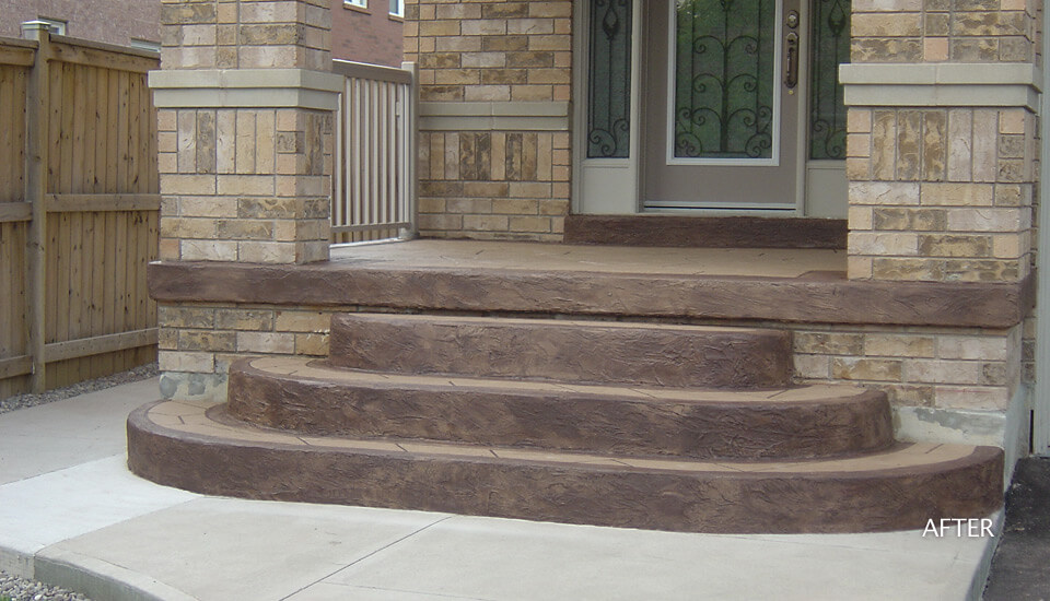 Custom Home Concrete Steps Design Ideas