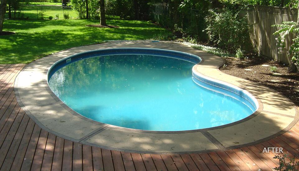 Restored Swimming Pool Deck