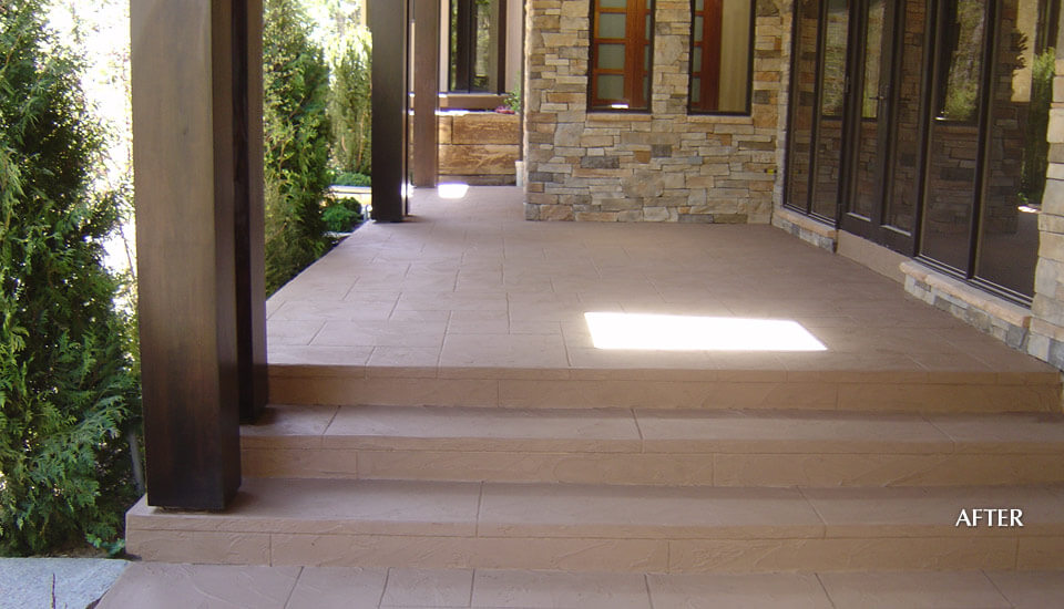 Decorative Concrete Seal - Coloured Cement Overlay