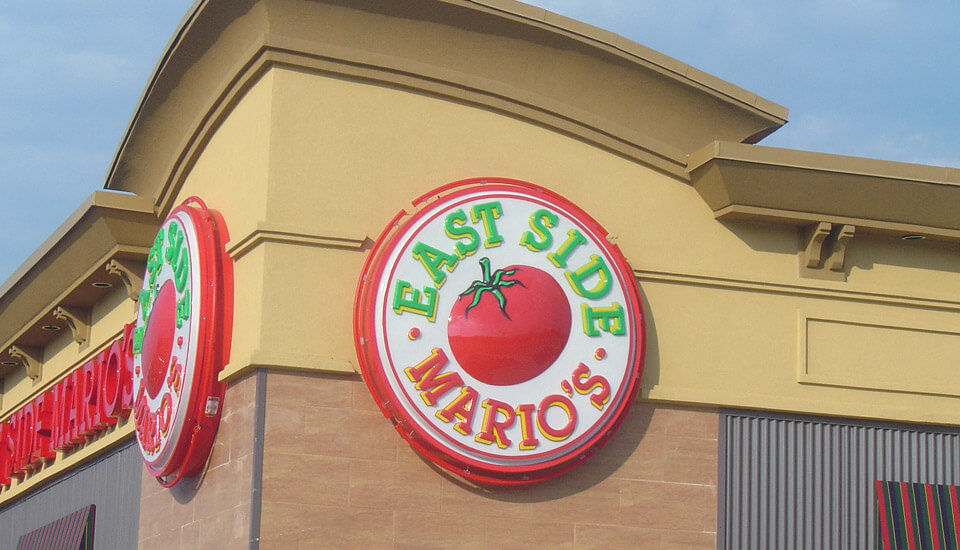 Commercial Building Stucco Design - East Side Mario's