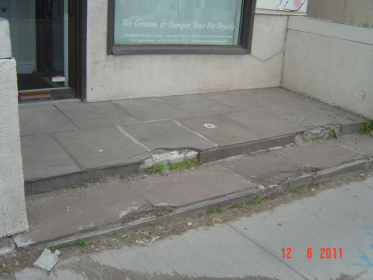Concrete Repair and Restoration - Damaged Steps