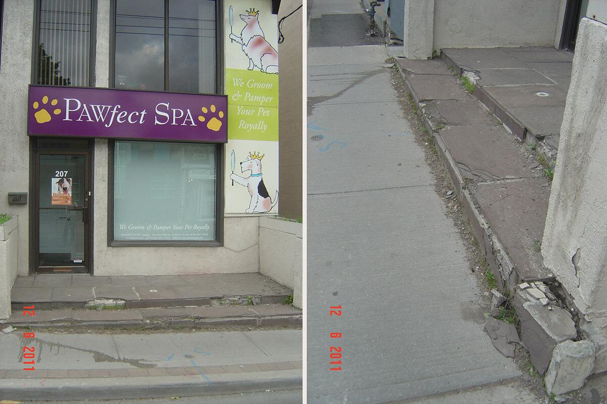 Concrete Repair and Restoration - Broken Concrete and Lose Tiles
