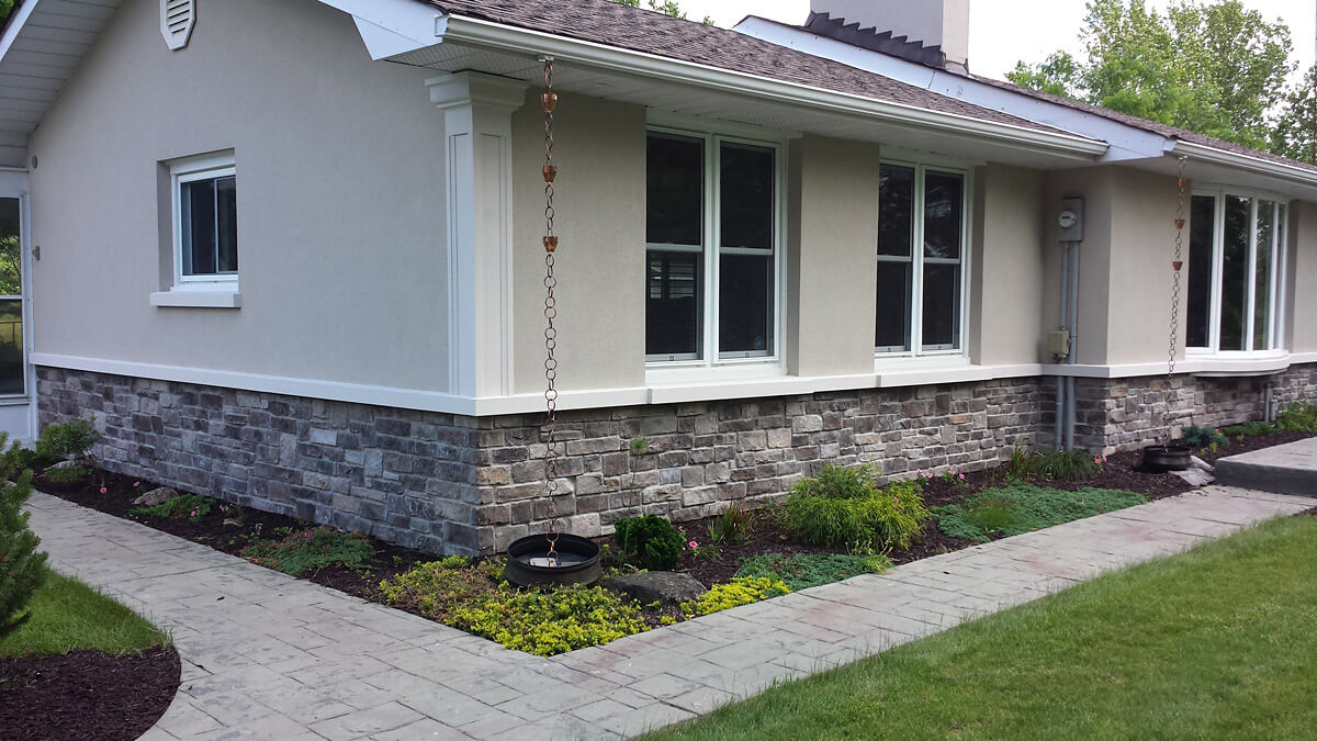 After Stone and Stucco Finish