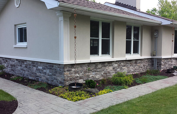 Halton hills ontario exterior restoration stone and for Stucco stone exterior designs