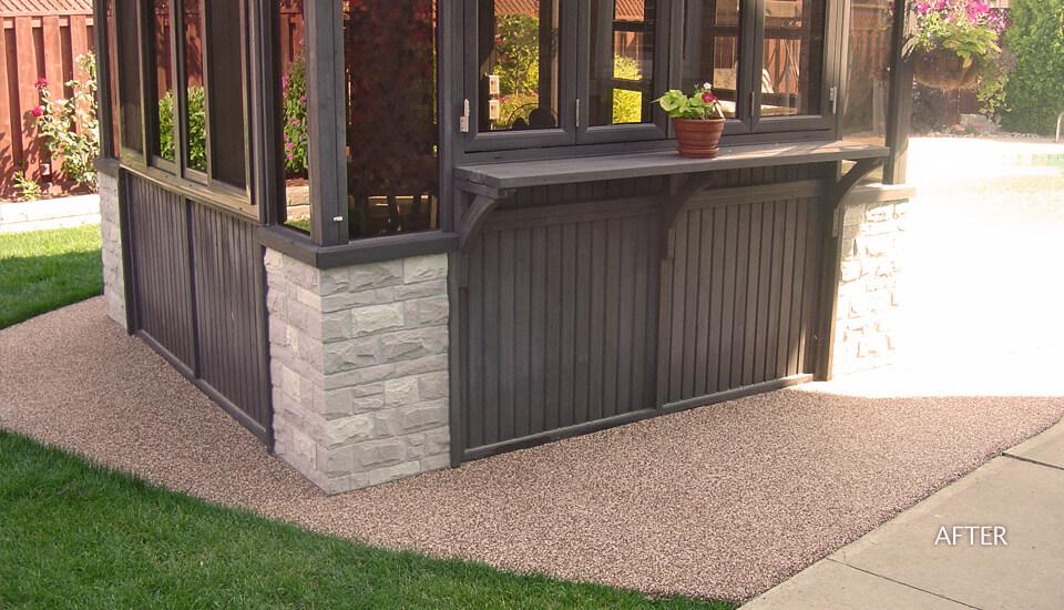 Backyard patio with Sierra Stone - After