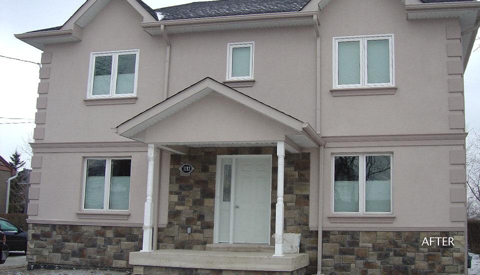Stucco and Stone Design Idea
