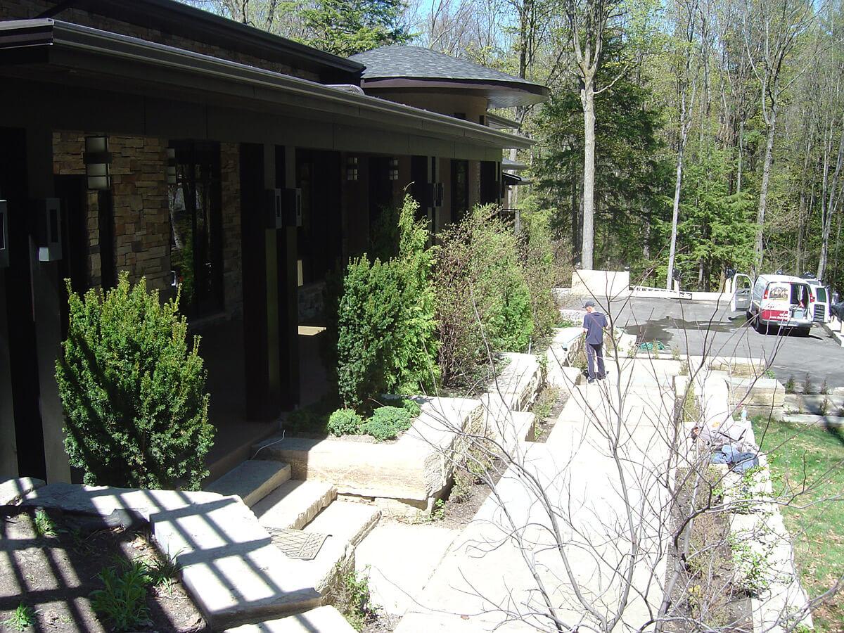 Residential steps walkway