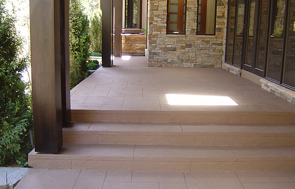 Steps and Walkway with decorative cement finish
