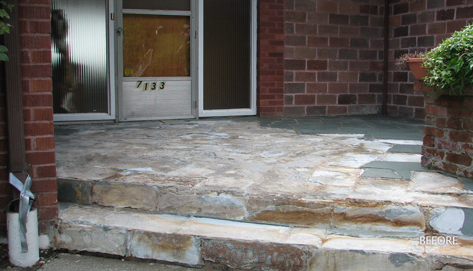 Broken Concrete Steps - Repair and Restoration