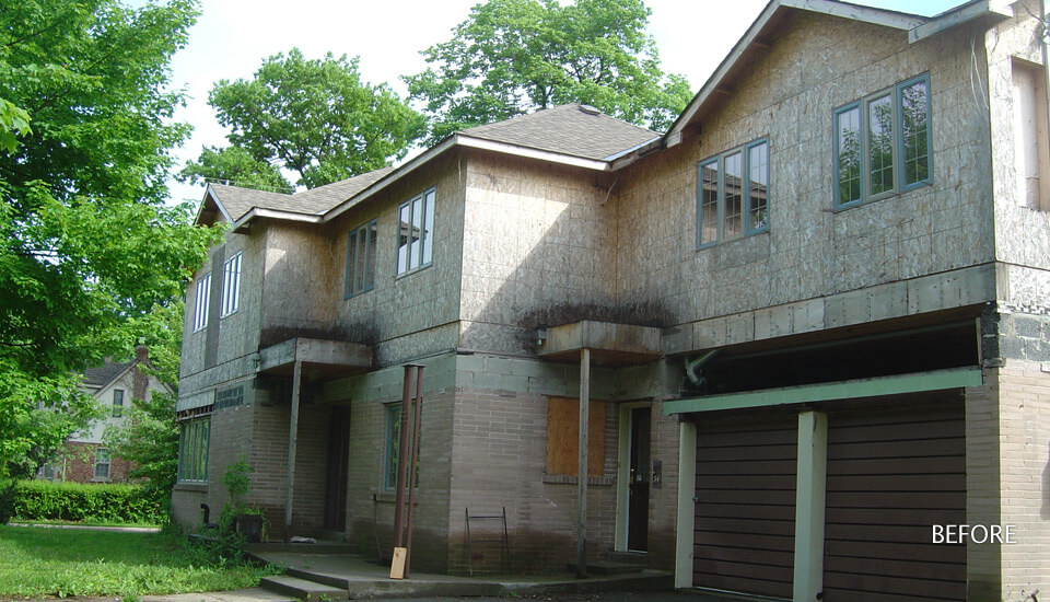 Before After Stone Veneer - Faux Stone Siding