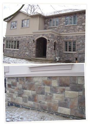 Stone and Natural Stone House Exterior