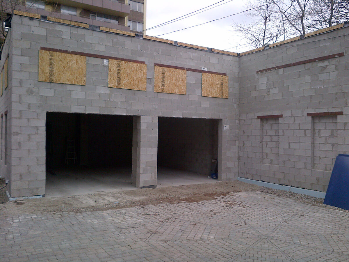 New Garage Building Before Stucco Finish
