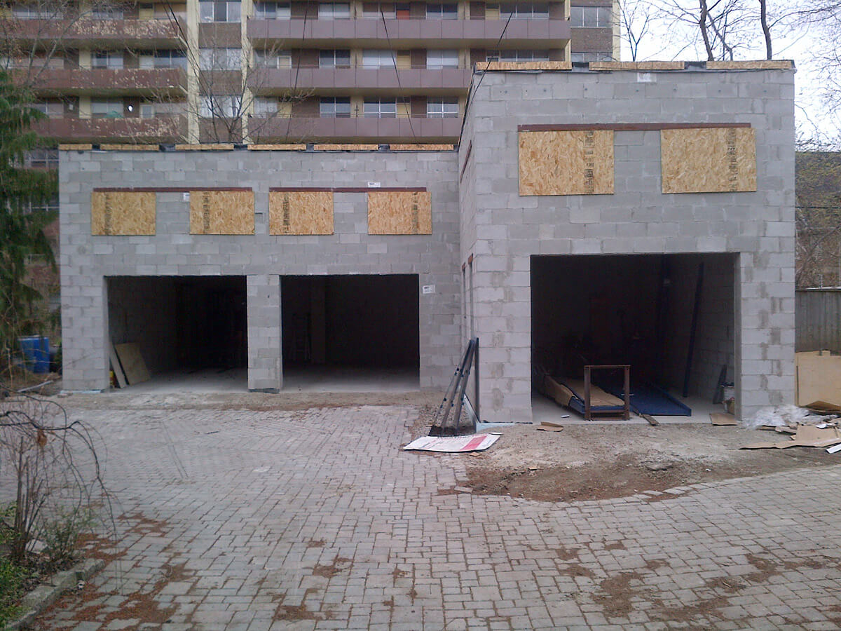 Exterior Stucco Finish - New Building before stucco applcation