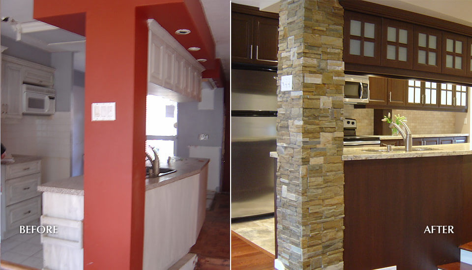 Townhome Indoor Stone Veneer Design Idea
