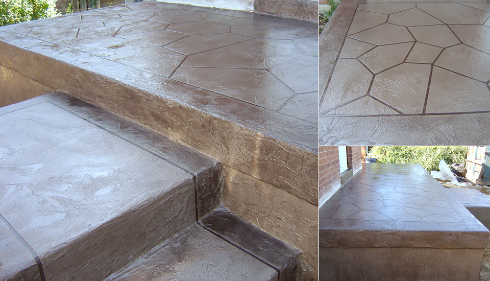 House patio, steps, porch and veranda - Decorative Concrete Designs