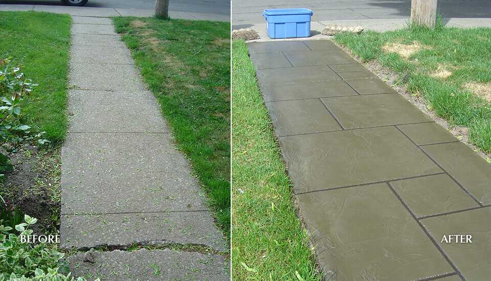 Concrete Slab Walkway / Sidewalk- Before & After