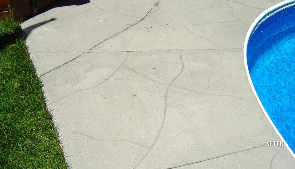 Decorative Concrete Design on Pool Deck