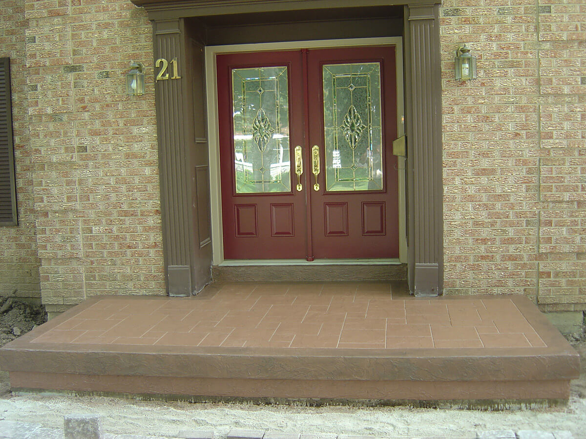 Concrete Steps Makeover - Decorative Cement Overlay - Brampton